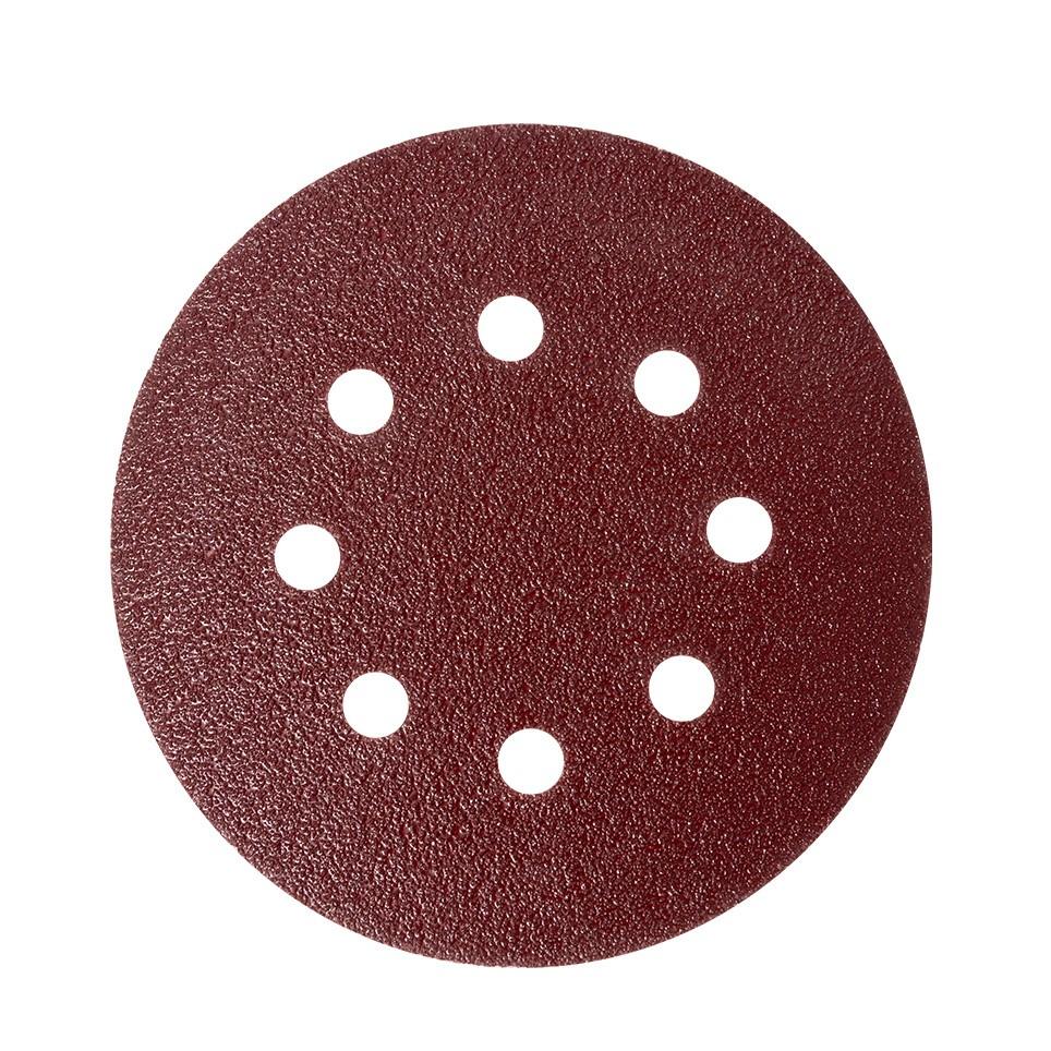 Disc abraziv cu autofixare, pentru lemn / metal / glet, Lumytools LT08558, 125 mm, granulatie 80, set 10 bucati