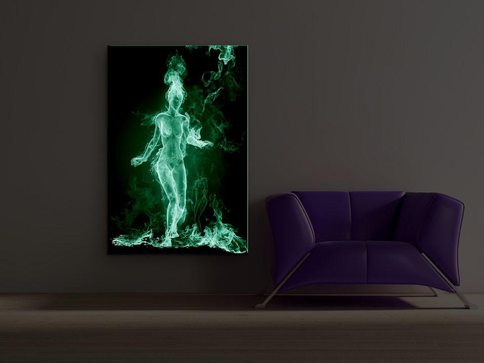 Tablou dualview DTB4816 Fata de foc, canvas, stil modern, 60 x 90 cm