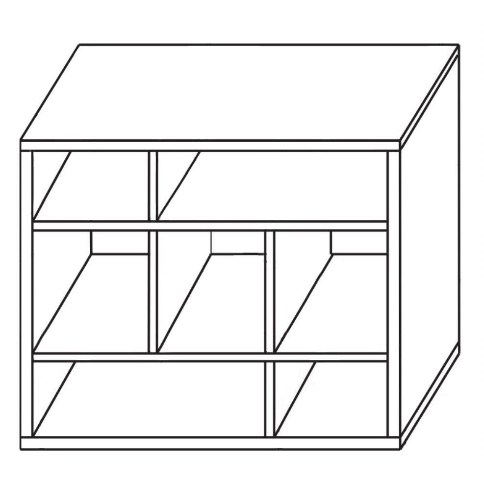 Biblioteca living Valentino, wenge + bej + print, 360 cm, 8C