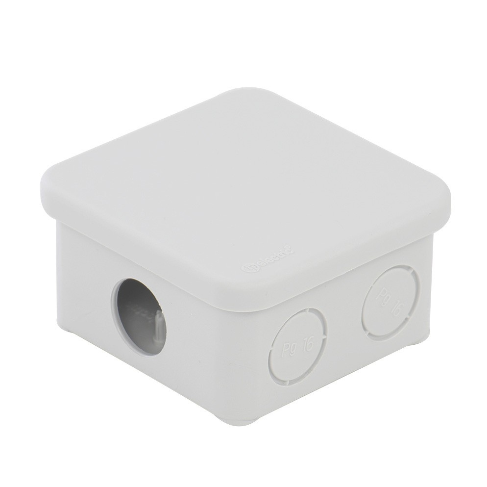 Doza derivatie D8/8P, aparenta, IP45, 80 x 80 x 45 mm