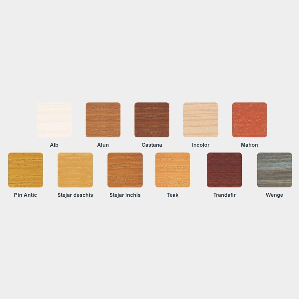 Lac / lazura 3 in 1 pentru lemn, Kober Ecolasure Extra, mahon, pe baza de apa, interior / exterior, 10 L