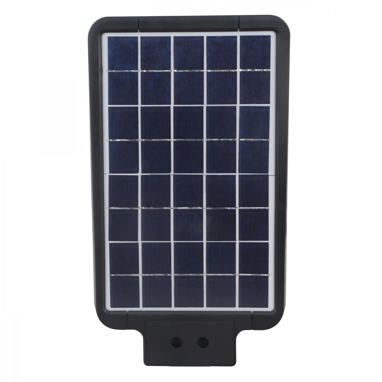 Dedeman Corp De Iluminat Solar Stradal Led Hepol 15w 1600lm Lumina Rece 6500 K Cu Senzor De Miscare Neagra Ip65 Dedicat Planurilor Tale