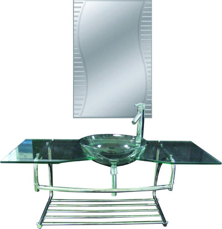 Dedeman Mobilier din sticla, J01, montaj suspendat, 120 x 45 cm