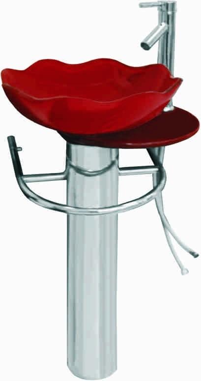 Dedeman Lavoar sticla 1055 480×500 (rosu)  Mobilier baie