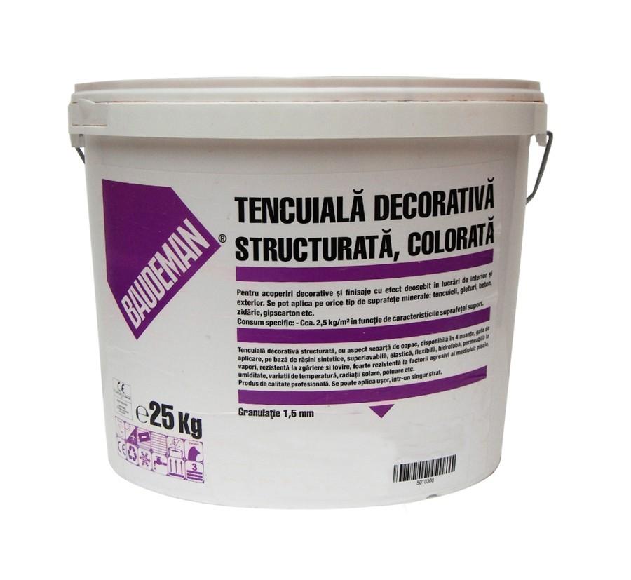 Tencuiala Decorativa Exterior La Sac.Dedeman Tencuiala Decorativa Baudeman Galben 1 5 Mm 25 Kg Dedicat