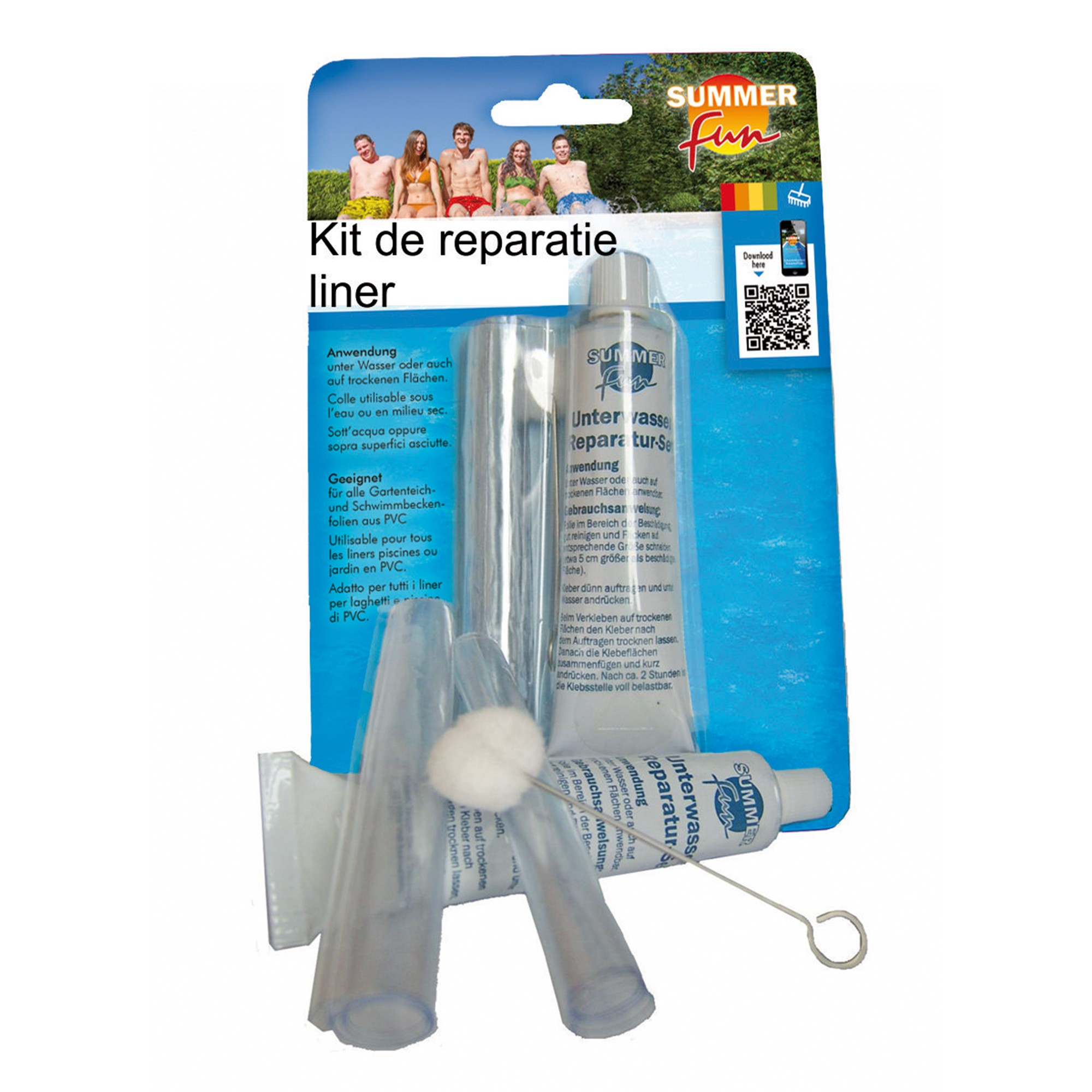 Dedeman kit reparatie piscina liner summer fun dedicat for Kit de piscina