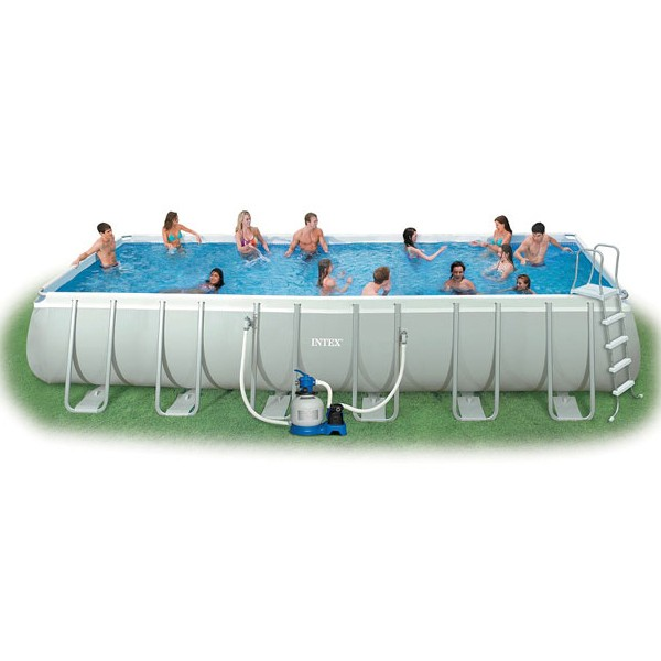 Dedeman piscina cu cadru metalic intex 54984 for Piscine intex carre