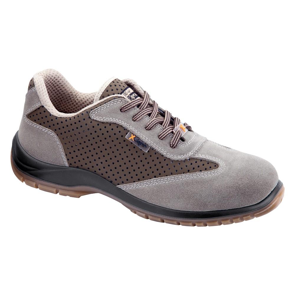 încălţăminte vânzare magazin de vânzare calitate superioară Dedeman - Pantofi de protectie Argo, cu bombeu compozit, piele spalt de  bovina si microfibra perforata, gri + maro, S1P SRC, marimea 43 - Dedicat  planurilor tale