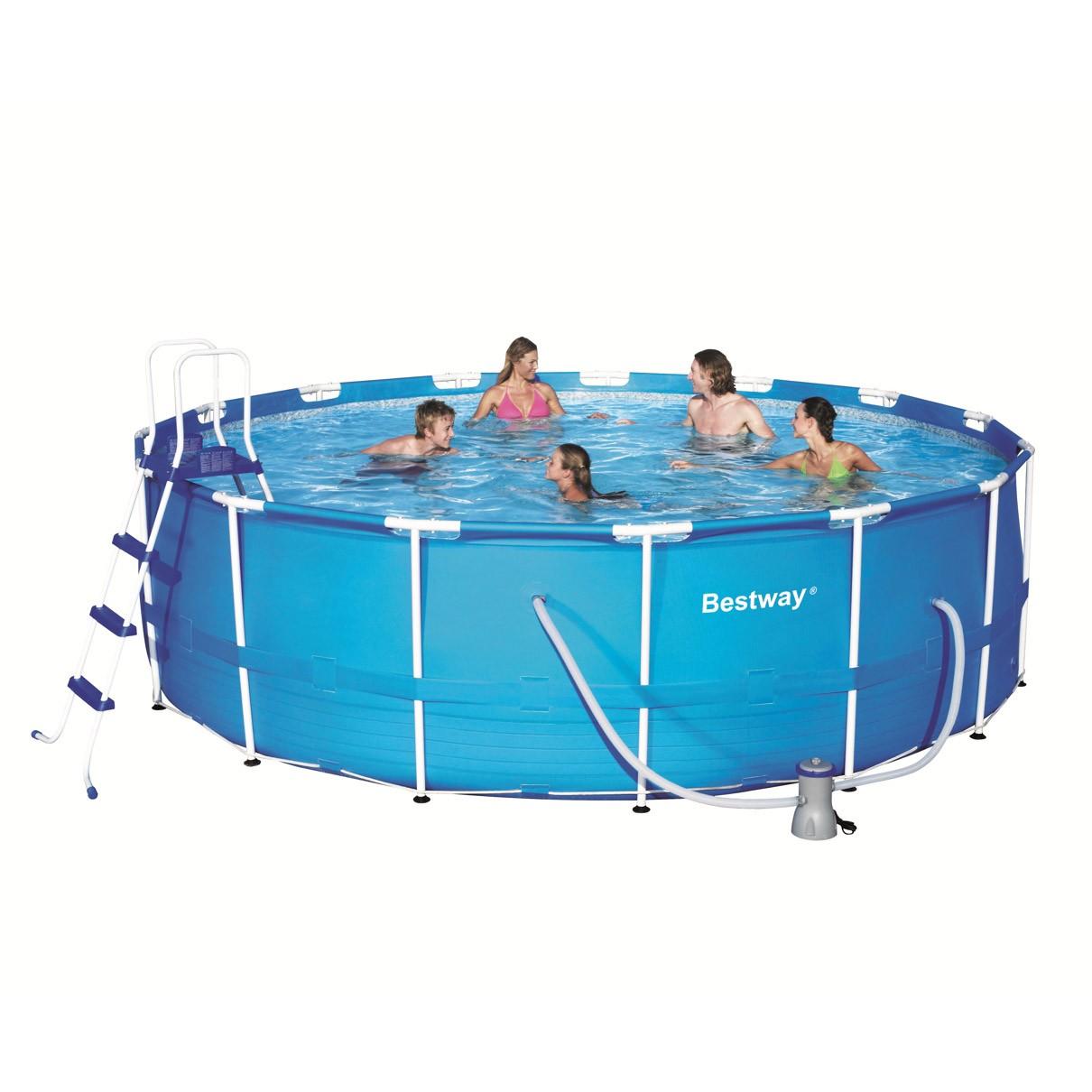 Dedeman piscina cu cadru metalic bestway 457 x 122 cm for Piscina 457 x 122