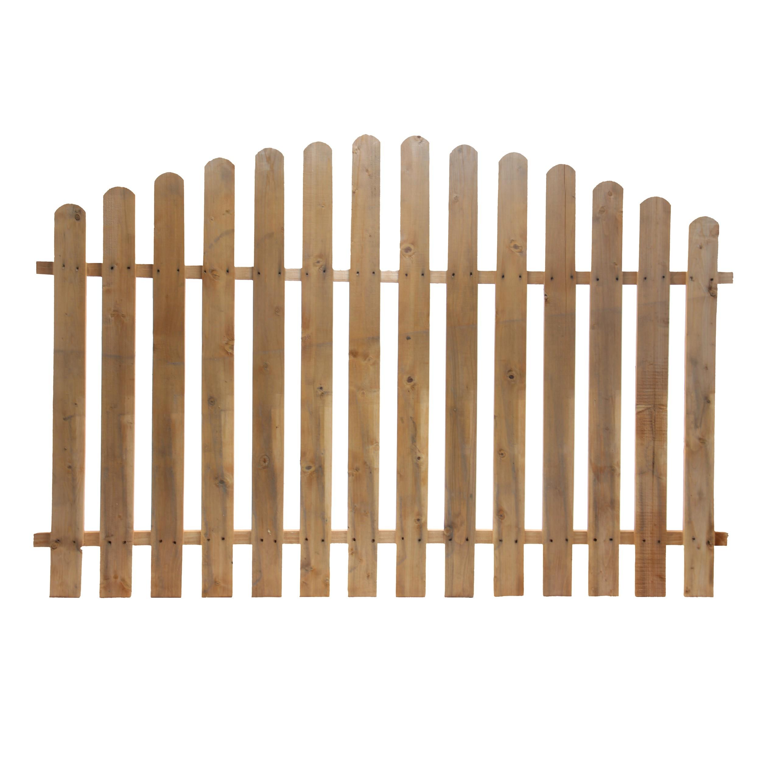 Dedeman Gard Lemn Pentru Gradina Convex 180 X 120 Cm Dedicat Planurilor Tale