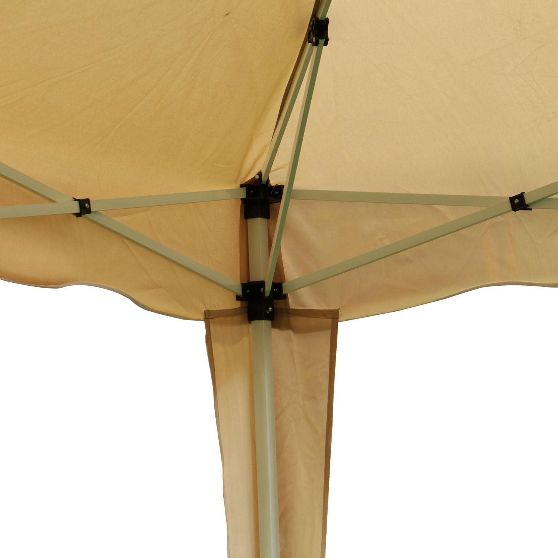 Dedeman Pavilion Gradina Pliabil Patrat Cadru Metalic Poliester Crem 3 X 3 M Dedicat Planurilor Tale