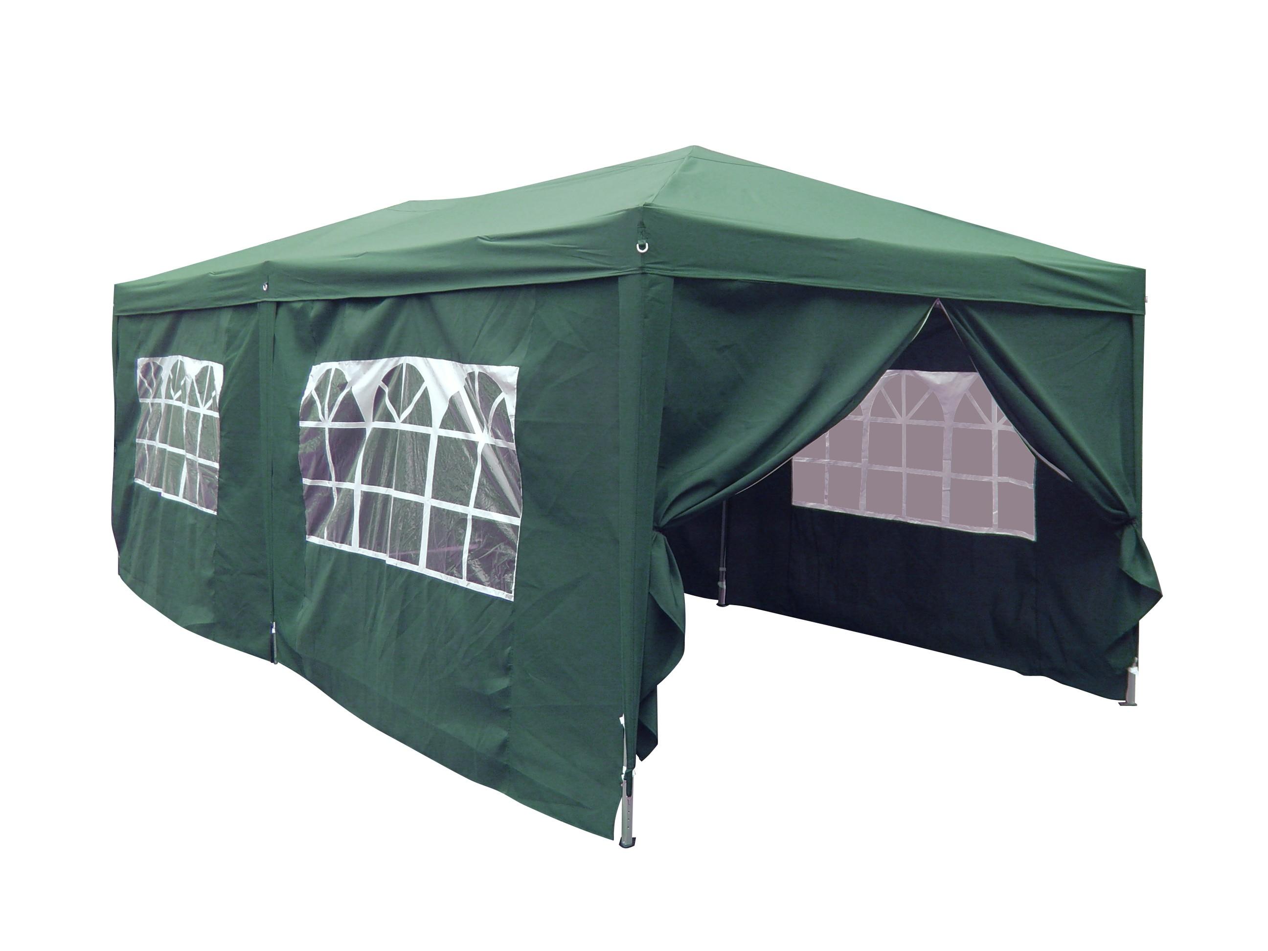 Dedeman Pavilion Gradina Pliabil Patrat Cadru Metalic Poliester Verde 3 X 6 M Dedicat Planurilor Tale