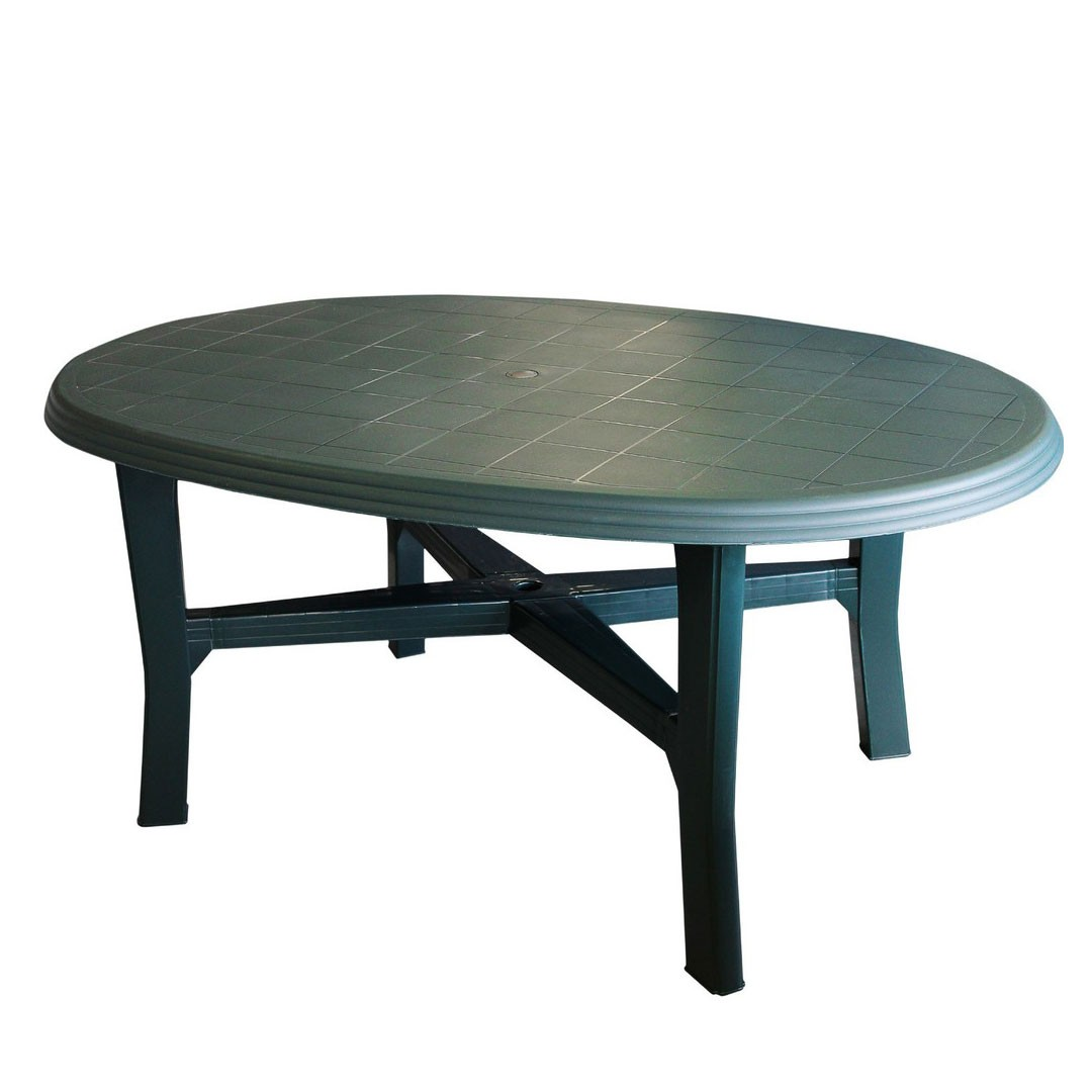 dedeman masa fixa pentru gradina danubio plastic ovala 165 x 110 x 72 cm dedicat. Black Bedroom Furniture Sets. Home Design Ideas