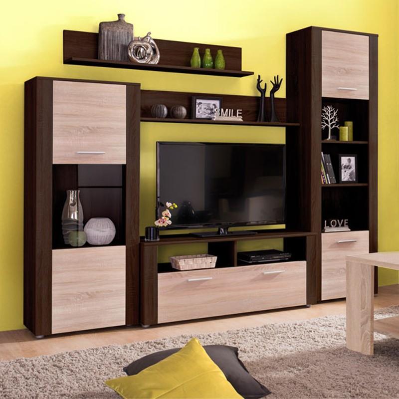 Dedeman Biblioteca Living Opus Wenge Stejar Sonoma 229 Cm 3c