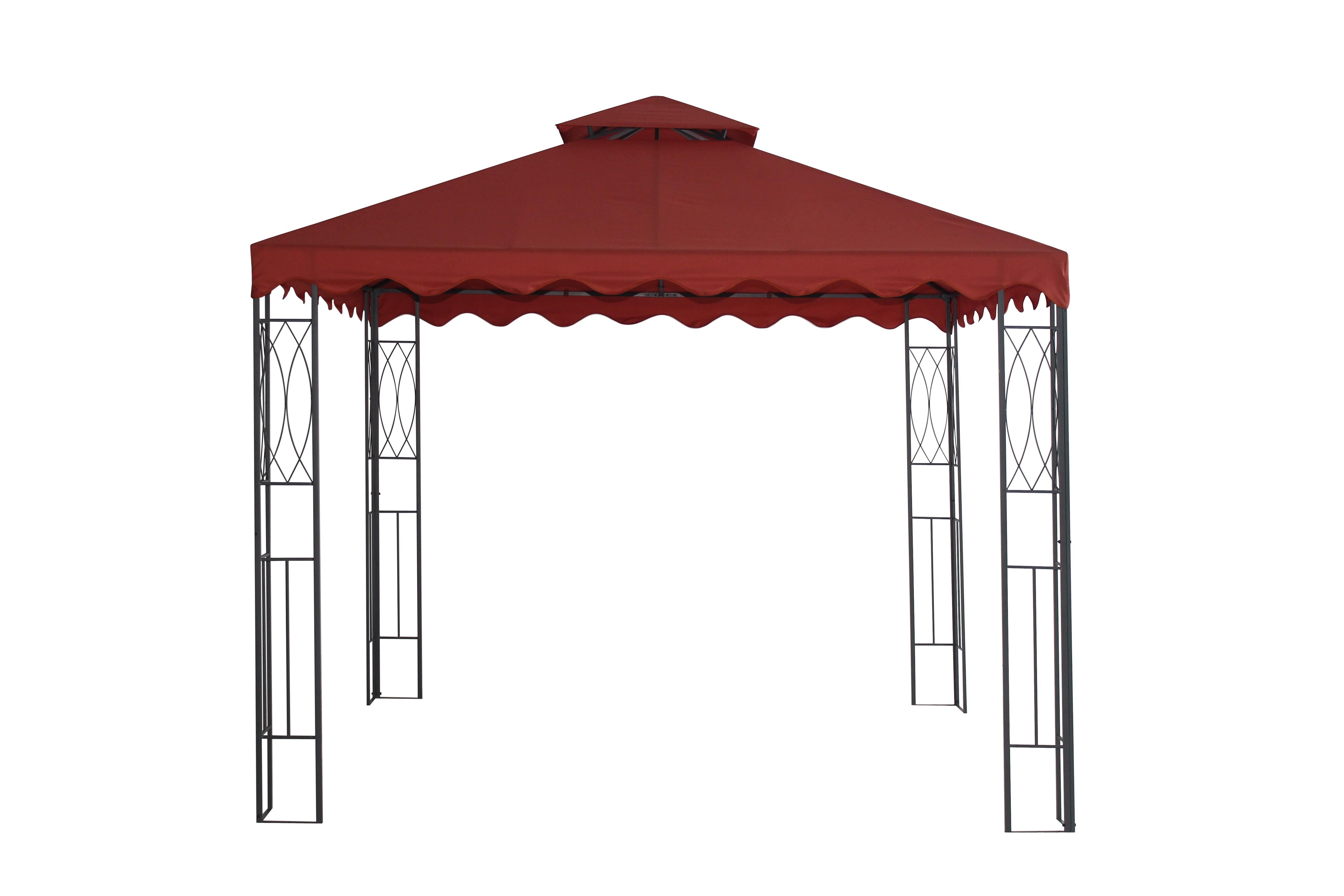 Dedeman Pavilion Gradina Patrat Cadru Metalic Poliamida Rosu 3 X 3 M Dedicat Planurilor Tale