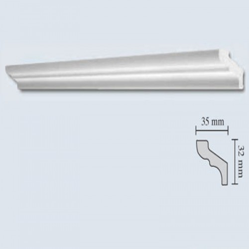 dedeman bagheta polistiren decorativa 735 f35 clasic alb. Black Bedroom Furniture Sets. Home Design Ideas