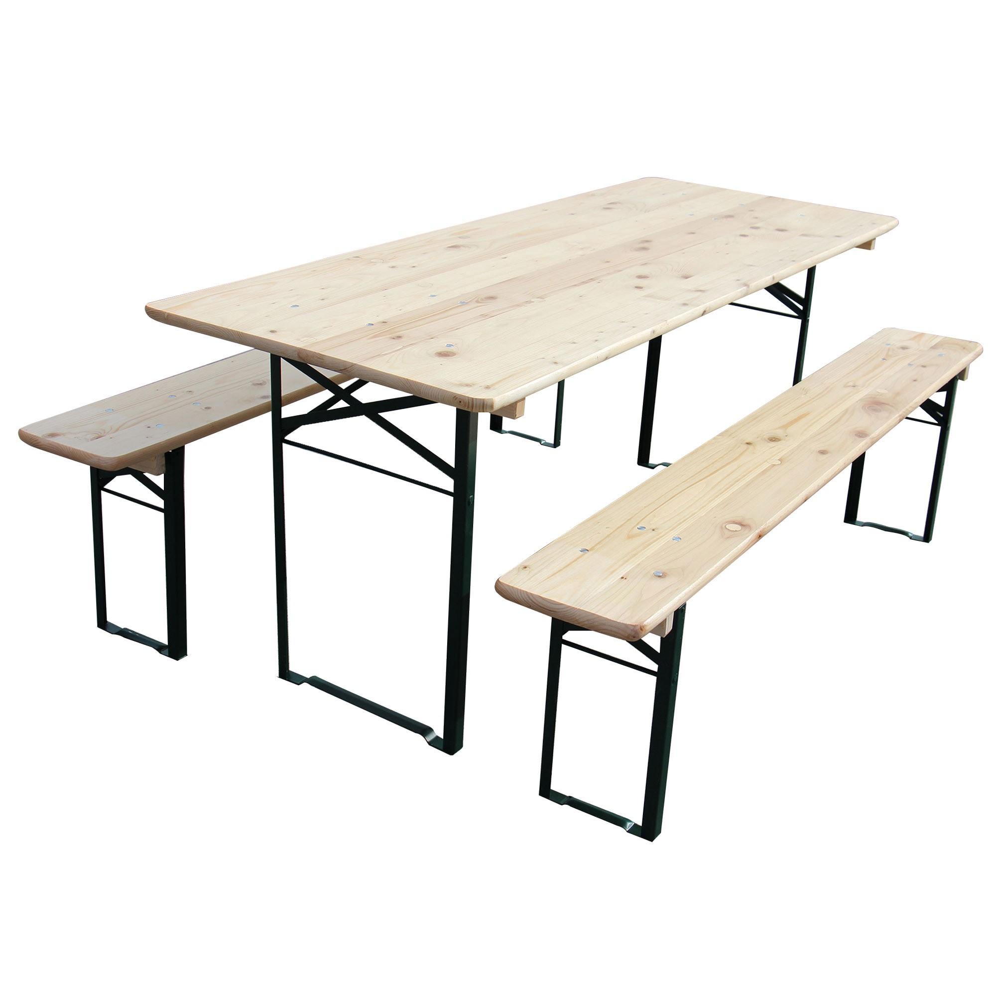 Dedeman set berarie masa cu 2 banci clasa a 180 x 70 cm for Masa cu scaune dedeman