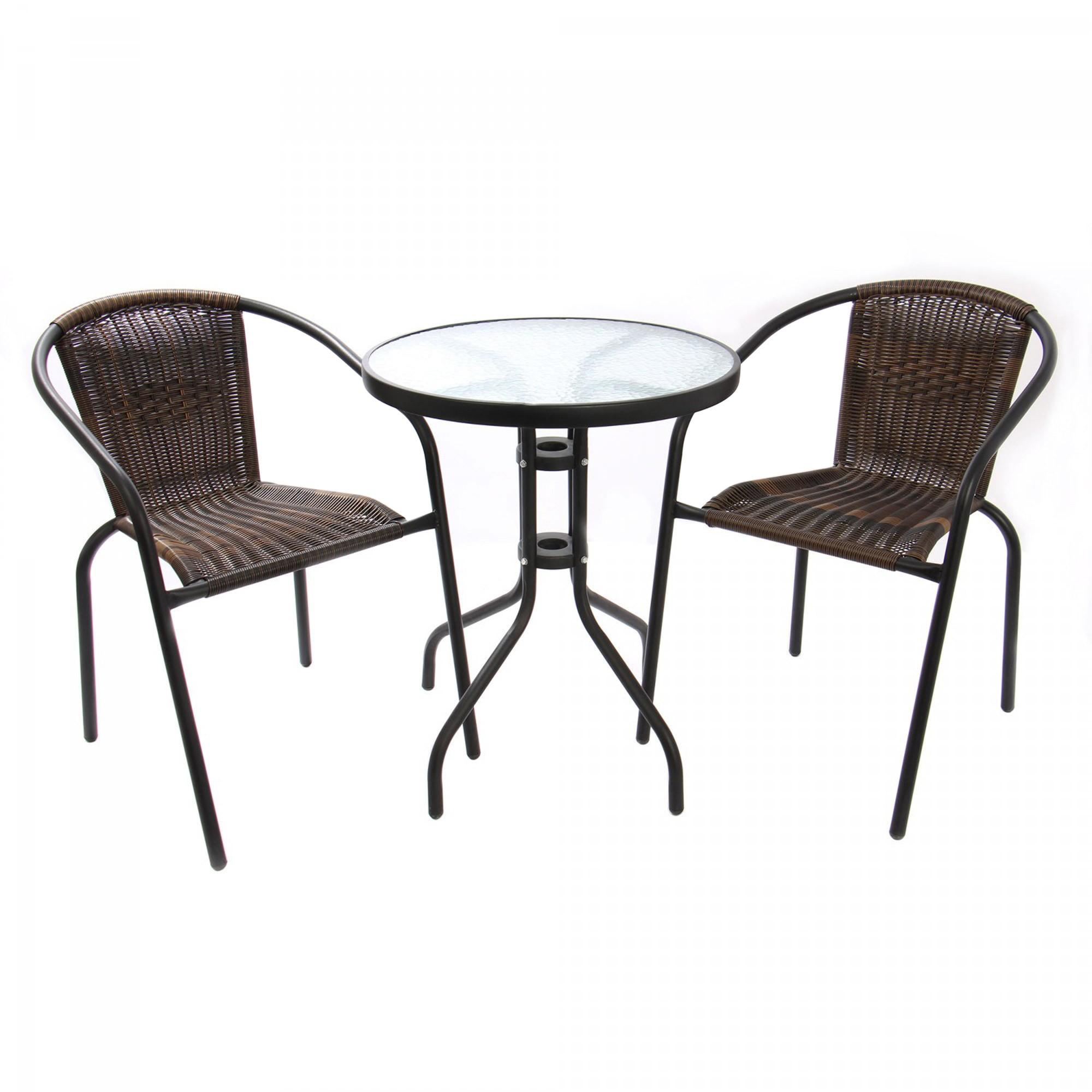 Dedeman set bistro masa cu 2 scaune din ratan sintetic for Masa cu scaune dedeman