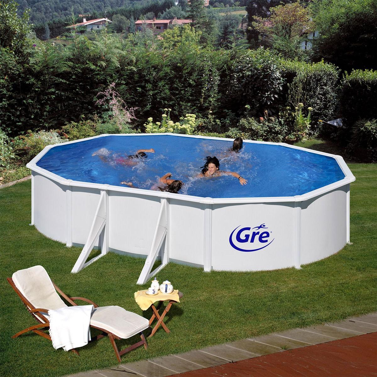 dedeman piscina ovala alba manufacturas gre 610x375x120cm