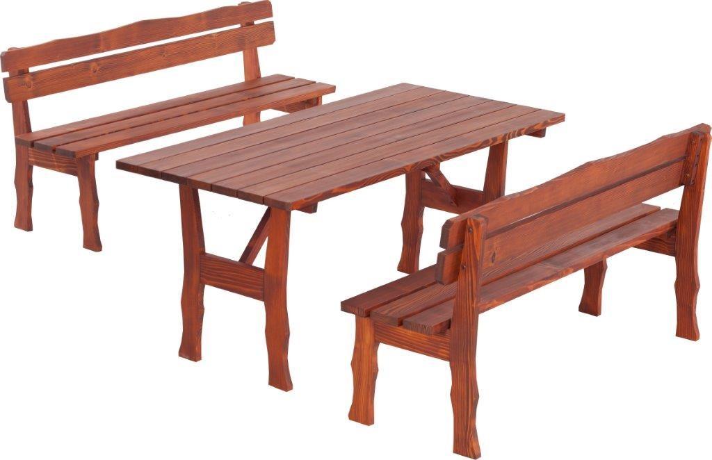 Dedeman set masa cu 2 banci cu spatar pentru gradina wien for Masa cu scaune dedeman