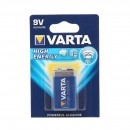 Baterie Varta High Energy 6LP3146, 9V, Primary Alkaline Manganese (ZN/MNO2)