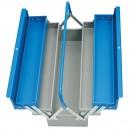 Cutie metalica pentru scule, rabatabila, cu 5 compartimente, 450 x 215 x 240  mm