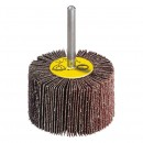 Perie abraziva, cu tija, pentru inox / metal, Klingspor KM 613 , 60 x 30 x 6 mm, granulatie 80