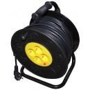 Derulator cablu electric, 4 prize, 50 m, 3 x 1.5 mmp, contact de protectie