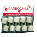 Piatra abraziva pentru slefuit metale, Carbochim, 8 x 10 x 3 x 25 mm