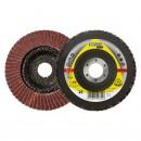 Disc lamelar frontal pentru otel, metale neferoase Klingspor SMT 314 322818 granulatie 80 125 mm