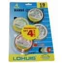 Banda izolatoare Lohuis culori diferite, 19 m x 0.15 mm x 19 mm, 4 buc
