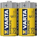 Baterie Varta Superlife 2014, R14 / C, Zinc - Carbon, 2 buc