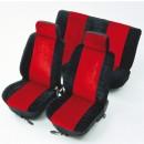 Huse auto pentru scaun, Unitec Basic, universale, rosii, set 8 bucati, 50 x 33 x 7 cm