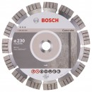 Disc diamantat, cu segmente, pentru debitare beton, Bosch Best for Concrete,   230 x 22.23 x 2.4 x 15 mm, 2608602655