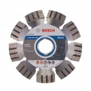 Disc diamantat, cu segmente, pentru debitare beton / piatra, Bosch Best for Stone,  115 x 22.23 x 2.2 x 12 mm, 2608602641