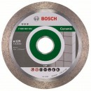 Disc diamantat, continuu, pentru debitare placi ceramice, Bosch Best for Ceramic, 125 x 22.23 x 1.8 mm, 2608602631