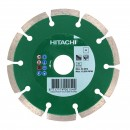Disc diamantat, cu segmente, pentru debitare materiale de constructii, Hitachi, 115 x 22.23 x 2.1 x 10 mm