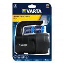 Lanterna LED Varta 18750 + 4 baterii R14 / C, 3W, 150 lm, 2 moduri de iluminare, maner