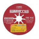 Disc glazurat, Lumytools LT08662, 125 x 22 mm, granulatie 36