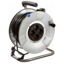 Derulator cablu electric H05Rr-F 10311, 4 prize, 25 m, 3 x 1.5 mmp, contact de protectie