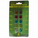 Sigurante auto mini cu LED set 7 buc