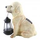 Lampa solara LED Hoff, caine cu felinar, rasina, plastic, 25 cm