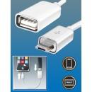 Cablu OTG conector USB micro-soclu USB SA 044