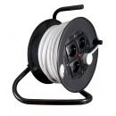 Derulator cablu electric PD-4CP 53377, 4 prize, 50 m, 3 x 1.5 mmp, contact de protectie
