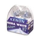 Bec auto pentru far Xenon Mega White H7, 55W, 12 V, set 2 bucati