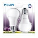 Bec LED Philips clasic A60M E27 9W lumina calda - 2 buc
