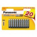 Baterie Panasonic Alkaline Power, R3 / AAA, 1.5V, 20 buc