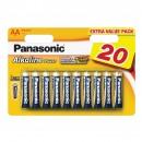 Baterie Panasonic Alkaline Power, R6 / AA, 1.5V, 20 buc