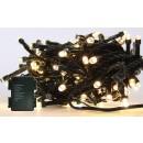 Instalatie brad Craciun, Hoff, 180 LED-uri albe cu lumina calda, 17.9 metri, controler, interior / exterior, alimentare baterii