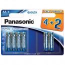Baterie Panasonic Evolta 4734, R6 / AA, Alkaline, 6 buc